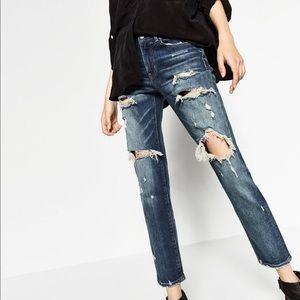 Zara boyfriend jeans!